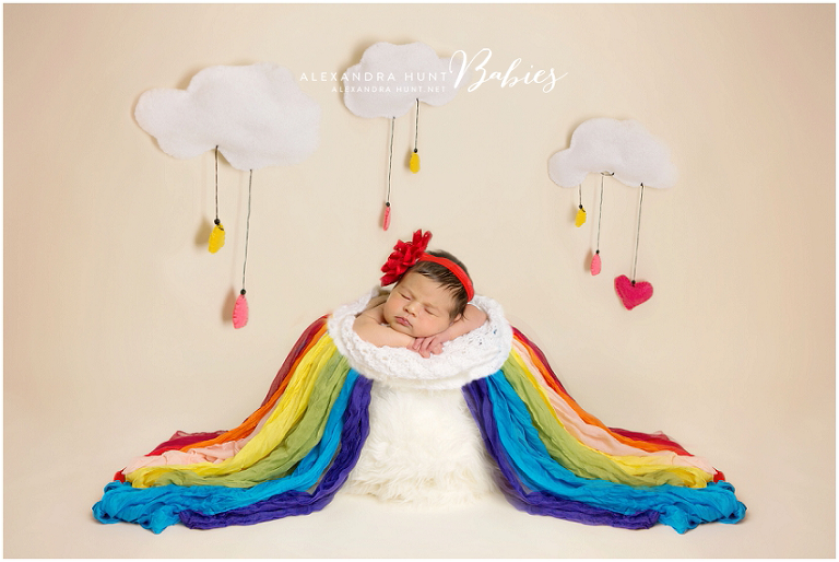 Rainbow baby vancouver newborn photographer alexandra hunt photography