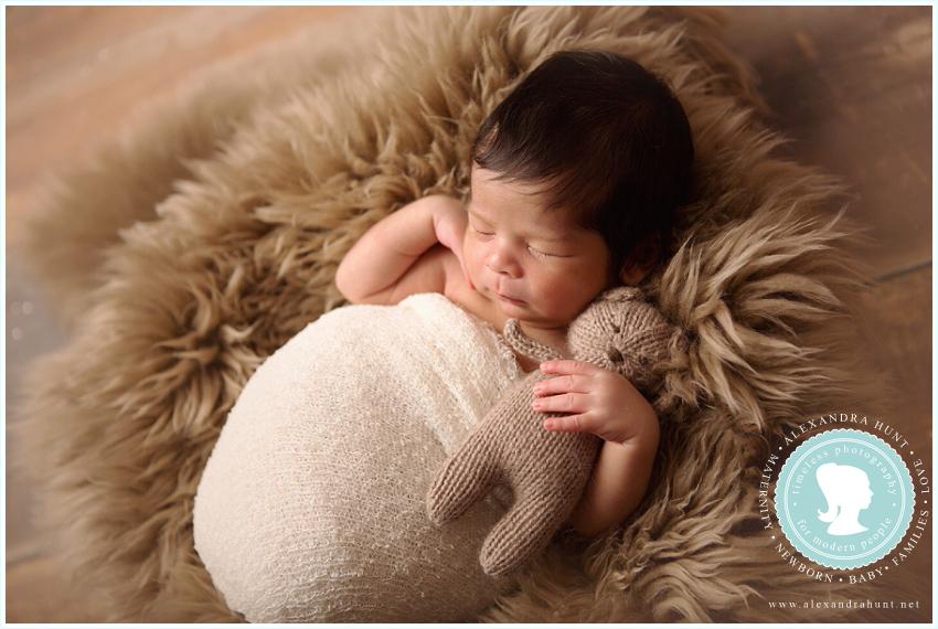 Basketball baby langley newborn photographer