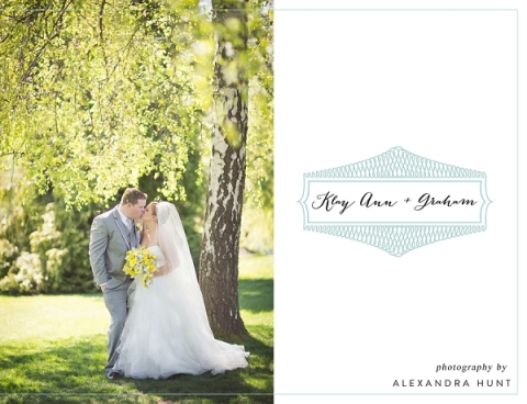 wedding topper - Klay Ann + Graham