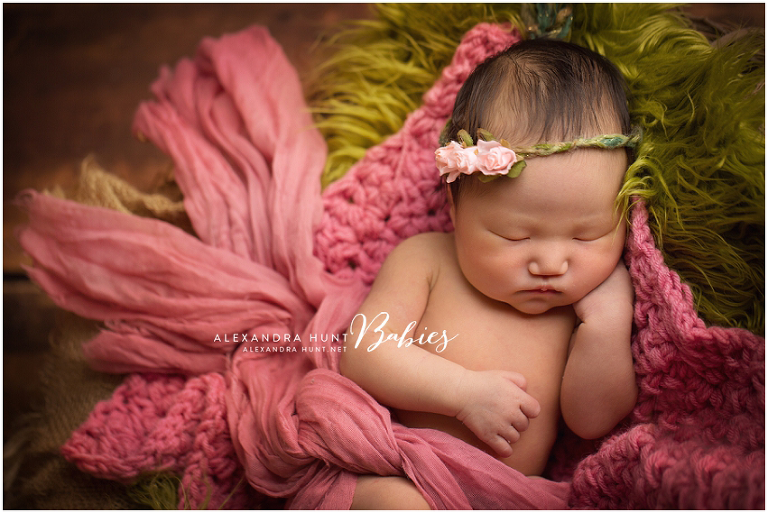 newborn portraits, flower, ALEXANDRA HUNT PHOTOGRAPHY