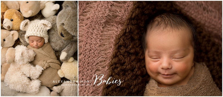 Langley newborn photography, studio baby photographer, Alexandra Hunt Photography