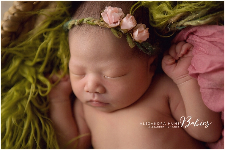 Langley newborn baby portraits studio photographer, Alexandra Hunt Photography
