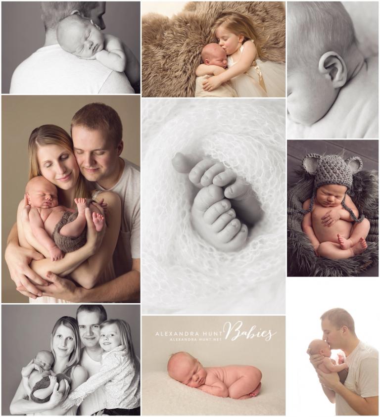 Langley newborn photography, studio baby photographer, Alexandra Hunt Photography