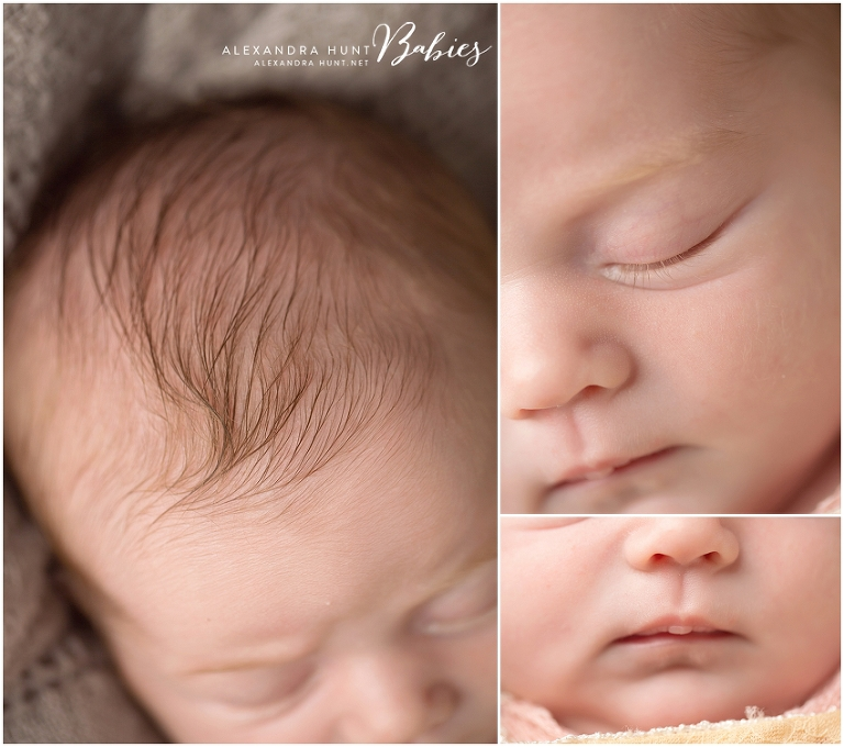 Langley newborn baby photographer, Alexandra Hunt Photography, studio props