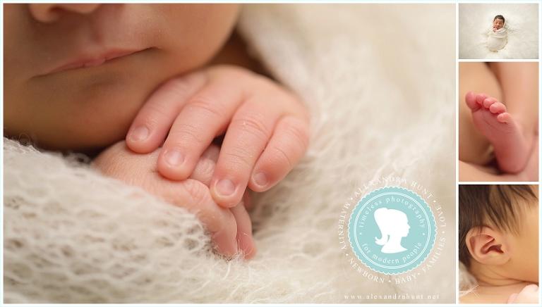 Langley newborn photographer, Alexandra Hunt photography, Langley studio props, baby girl