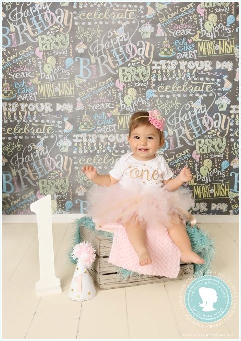 Langley baby photographer, studio, first birthday, Alexandra Hunt Photography