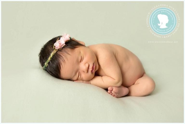 Langley studio newborn photographer, Alexandra Hunt PHotography