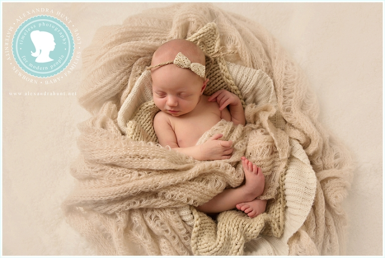Langley newborn portrait baby photography, Alexandra Hunt studio
