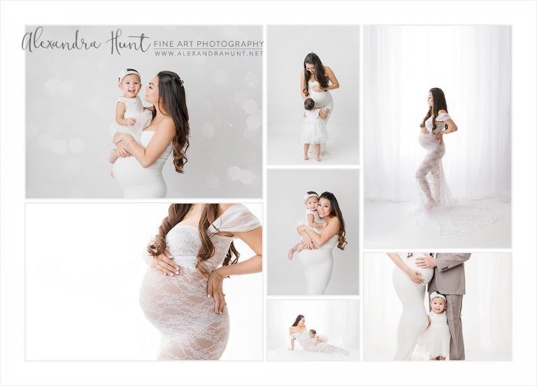 pregnant om expecting second child photography session