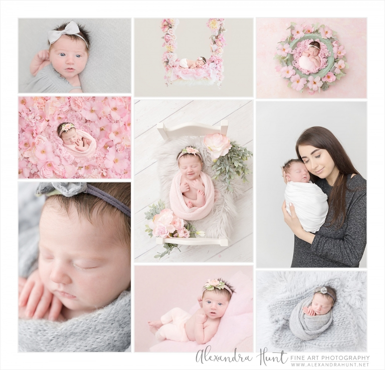 Mama wanted pink and grey - and baby Chloe just wanted to be wrapped up and snuggled. Two happy ladies right here!⠀⠀⠀⠀⠀⠀